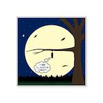 Bat Sleeping In Square Sticker 3