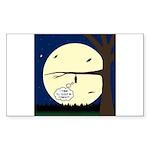 Bat Sleeping In Sticker (Rectangle 10 pk)