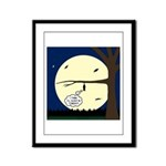 Bat Sleeping In Framed Panel Print