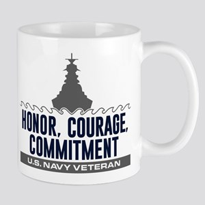 U.S. Navy Honor Courage Commitment Mug