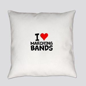 I Love Marching Bands Everyday Pillow