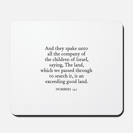 NUMBERS  14:7 Mousepad