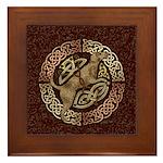 Celtic Dog Framed Tile