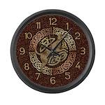 Celtic Dog Large Wall Clock