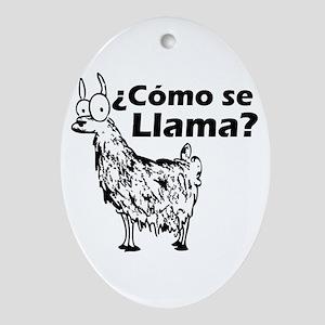 Como se Llama Oval Ornament