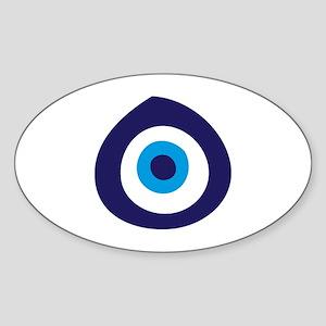 Evil Eye Oval Sticker