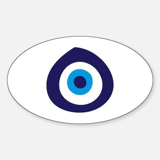 Evil Eye Oval Decal