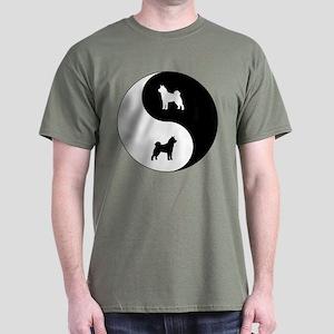 Yin Yang Akita Dark T-Shirt