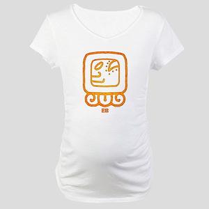 """Mayan Calendar Day """"EB"""" Maternity T-Shirt"""