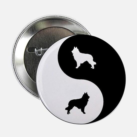 """Yin Yang Tervuren 2.25"""" Button"""