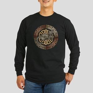 Celtic Cat Long Sleeve Dark T-Shirt