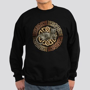 Celtic Cat Sweatshirt (dark)