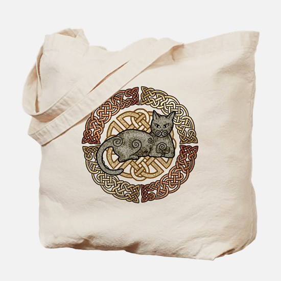 Celtic Cat Tote Bag
