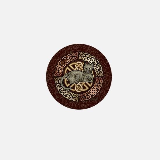 Celtic Cat Mini Button