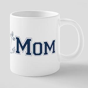 Navy Mom (with anchor) 20 oz Ceramic Mega Mug