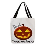 Trick-or-Treat Boo! Polyester Tote Bag