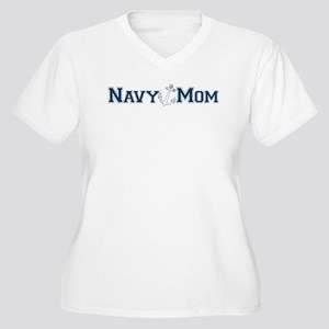 Navy Mom (with anchor) Plus Size T-Shirt