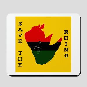 Save Rhino Africa Tear Yellow Mousepad