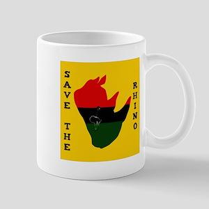 Save Rhino Africa Tear Yellow Mug