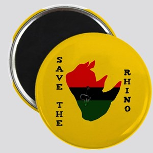 Save Rhino Africa Tear Yellow Magnet