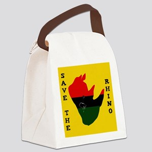 Save Rhino Africa Tear Yellow Canvas Lunch Bag