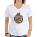Celtic Cat and Dog Women's V-Neck T-Shirt