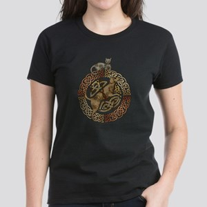 Celtic Cat and Dog Women's Dark T-Shirt