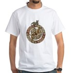 Celtic Cat and Dog White T-Shirt