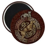 Celtic Cat and Dog Magnet