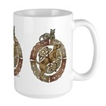 Celtic Cat and Dog Large Mug