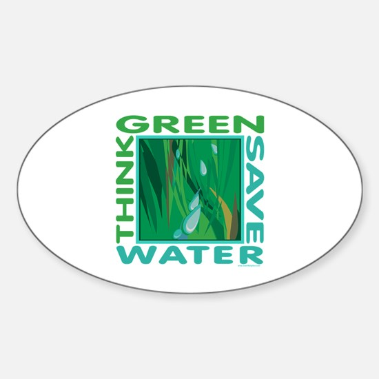 Water Conservation Sticker (Oval)