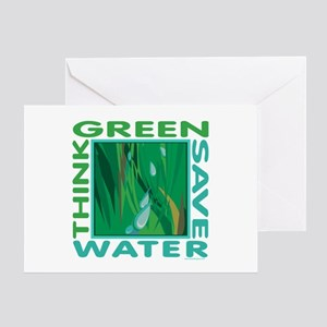 Water Conservation Greeting Card