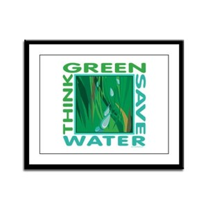 Water Conservation Framed Panel Print