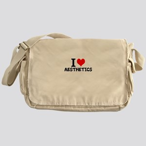 I Love Aesthetics Messenger Bag