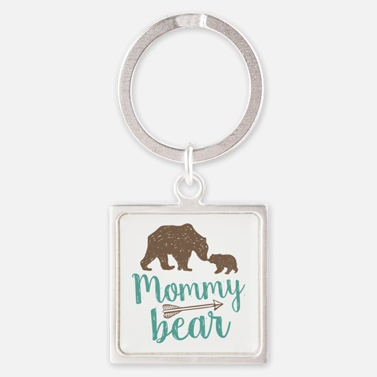 Mommy Bear Square Keychain