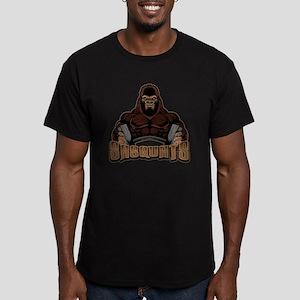 """Bigfoot Workout Sasquatch in Gym """"Sas T-Shirt"""