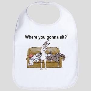 4on Where You Gonna Sit Bib