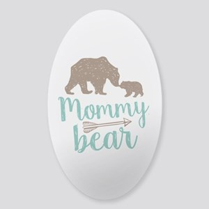 Mommy Bear Sticker (Oval)