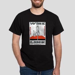 Wireline Dark T-Shirt,Slickline T-Shirt,Oil,Gas