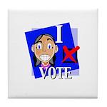 I Vote Tile Coaster