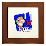 I Vote Framed Tile