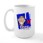 I Vote Large Mug