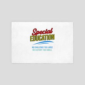 No Challenge No Victory Special Educat 4' x 6' Rug