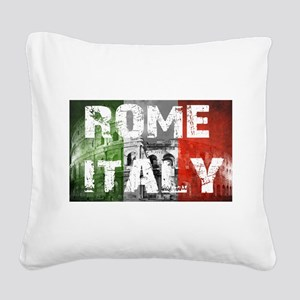 ROME ITALY Square Canvas Pillow