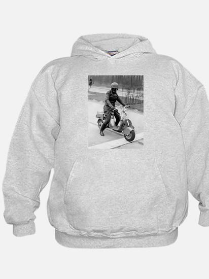 vintage scooter Hoodie