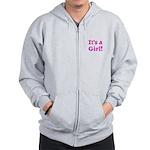 It's A Girl! Zip Hoodie