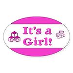 It's A Girl! Oval Sticker (10 pk)