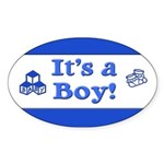 It's a Boy! Oval Sticker (10 pk)