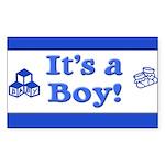 It's a Boy! Rectangle Sticker 50 pk)