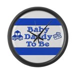 Baby Daddy to Be Large Wall Clock
